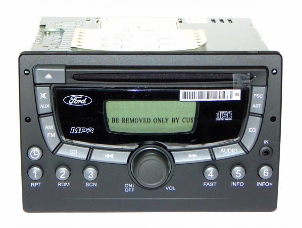 Rádio com CD player e cabo USB/IPOD - Fiesta