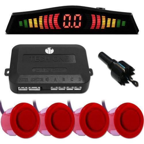 Sensor de estacionamento/ré com display em LED e capsulas vermelhas