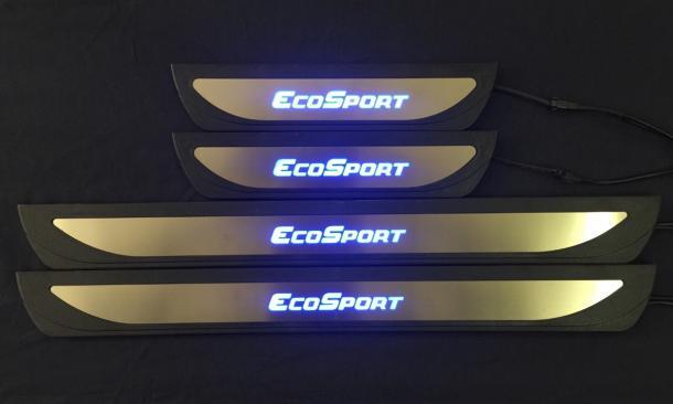 Jogo de soleiras em inox com led - Ecosport