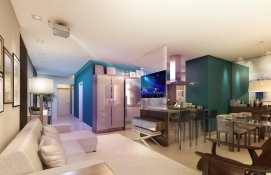 Apartamento - Gran Space 3 dorms 124m²