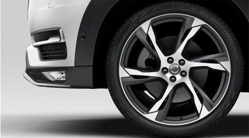 Conjunto de rodas e pneus - BLACK MATT 22